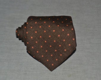 Authentic PRADA MILANO Brown Silk Wool Tie