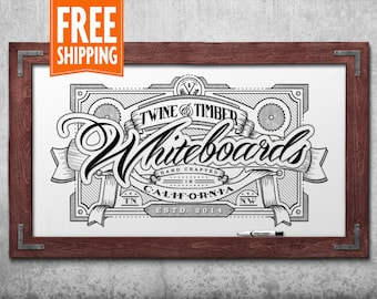 premium rustic framed whiteboard red mahogany