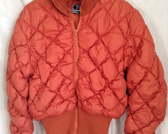 Jacket / down jacket vintage, brick, G Carling, T S.