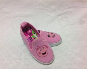 Little peppa pig kids shoes