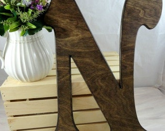 Wedding Signs Wooden Letter Guestbook Large Wooden Letters Large Wood Monogram Weddings Large Wood Letters Wedding Photo Prop