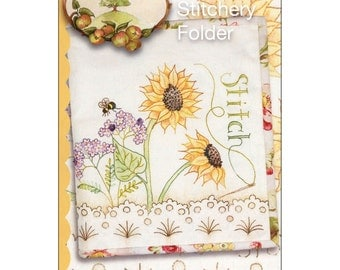 Pattern - Sunflower Stitchery Folder - Crab-apple Hill (822) Hand Embroidery and sewing Pattern