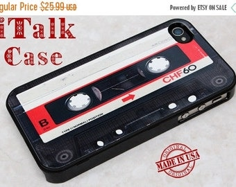 HOT SUMMER SALE iPhone 4/4S Case, iPhone 4S Cover, iPhone 4/4S skins, iPhone 4/4S Protective Cover, iPhone 4, iPhone 4S - Black Cassette