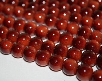Brunt Orange Glass Beads - 12mm - 35ct