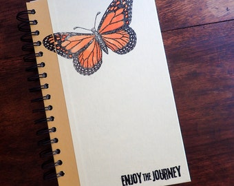 Engagement journal, Butterfly Journal Diary, Monarch, Nature lover, Travel Journal, Writing journal, handmade nature journal pages SET2