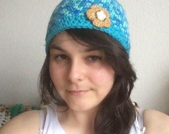 Cute Blue Beanie Hat