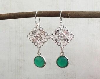 Green chandelier | Etsy