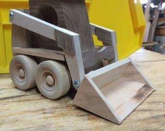 Handcrafted Wood Toy Skidloader