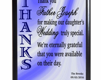 Wedding Officiant Priest Gift From Parents, Wedding Thank You Gift for Pastor from Parents-Custom Officiant Gift Ideas, Minister Gift, PV008