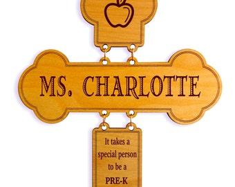 Pre-K Custom Thank you Teacher Gift ,Teacher Appreciation Gift ,Teacher Decorative Cross Gift,Teacher Appreciation Week,Teacher Keepsake
