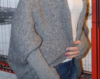 Poncho swetr rekodzieło gift Christmas gift Merino alpaca