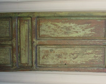 Antique Mexican Old Door-Primitive-Rustic-31x89-Headboard-Table-Barn Doors-Barn Door-Very Tall-Single