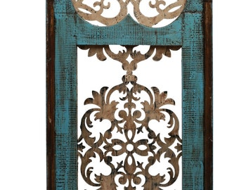 Cave Creek Gothic Architectural Turquoise Window -Wall-Primitive-Rustic-Garden-Patio-20x47