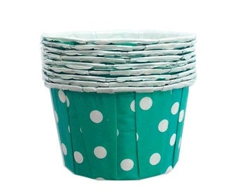 20 Teal Candy Cups, Nut Cups Ice Cream Cups Oven Safe Baking Supply Aqua Blue Green Aqua Turquoise