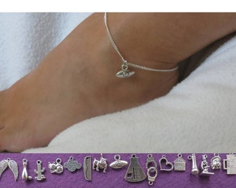 Podcast anklet with the charm of your choice.
