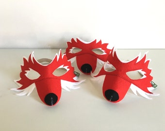 Fox mask Filzmaske for children