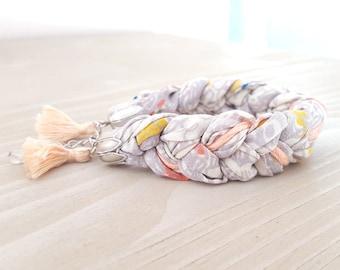 Bracelet braided silk
