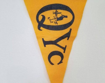 QYC yacht club with Pelican, Anchor and Cactus - Yacht - Burgee - Flag - FREE SHIPPING!