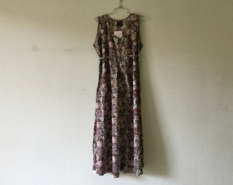 Vintage 80s Dress Sleeveless Summer Sundress