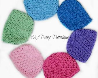 Crochet PATTERN - Baby Berry Caps - 8 Sizes!