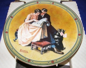 """Vintage NORMAN ROCKWELL'S 1985 American Dream """"A Couple's Commitment"""" With Coa"""