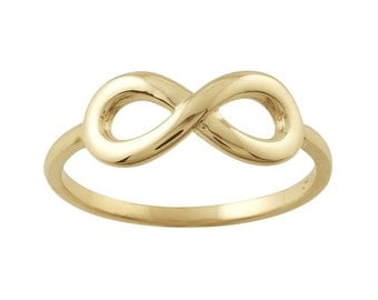 14kt yellow gold INFINITY ring - FSZ 7