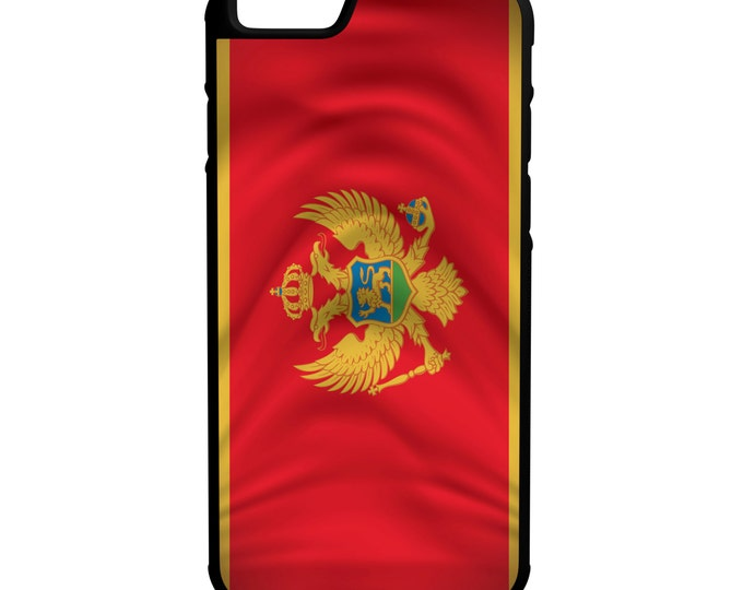 Montenegro Flag iPhone Galaxy Note LG HTC Hybrid Rubber Protective Case