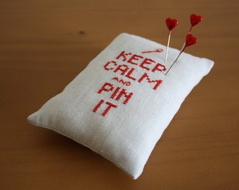 Cross Stitched Pin Cushion