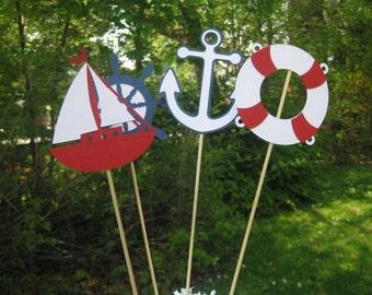 Nautical Table Centerpiece, Nautical Baby Shower Decorations, Nautical Bridal Shower Decorations
