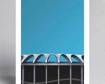 Minimalist Busch Stadium - Ballpark Art Print - St Louis Cardinals