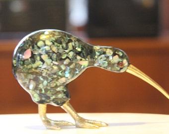 Vintage Retro 1980's  Kiwi Bird - Paua Souvenir