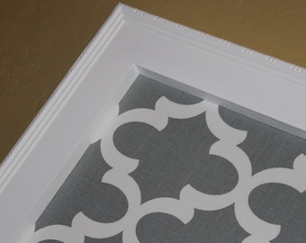 "Framed Bulletin Board - Extra Large, 41""x29"" Magnetic Board, Memo Board Vintage Wedding Decor Nursery Decor Magnet Board Fabric magnet board"