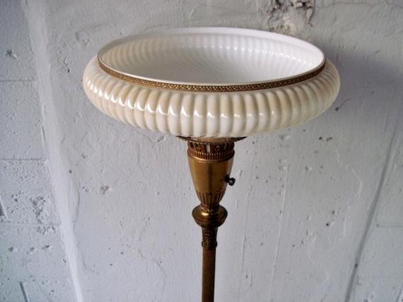 Brass Antique Art Nouveau Torchiere Marble Funeral Home Casket