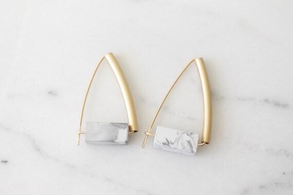 Concrete earrings