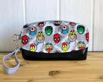 READY TO SHIP Comic Book clutch or wristlet