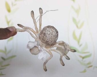 Nostalgic Spun Cotton Ornament Harvest Spider Filasophie