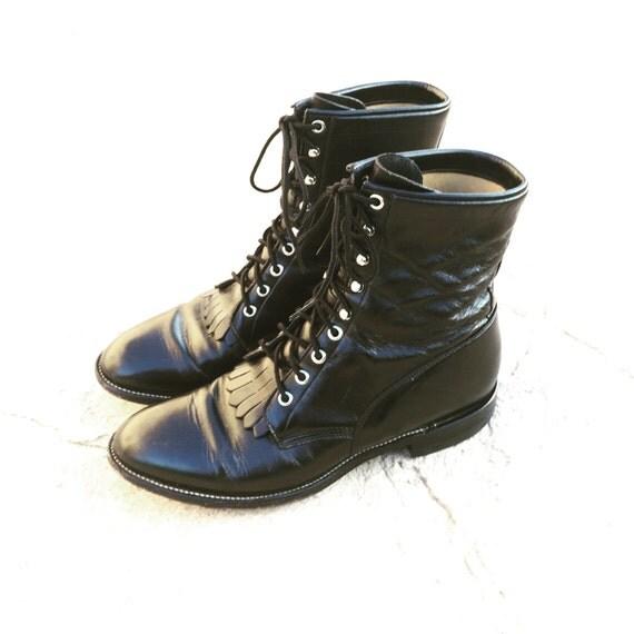 justin roper boots mens sz 10 5