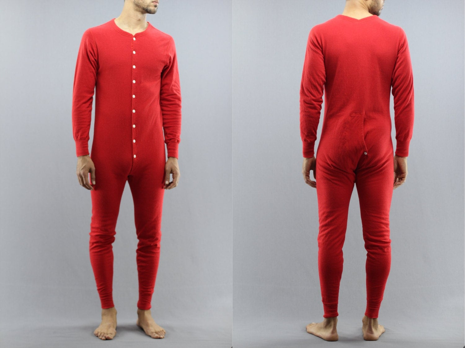 Long Underwear With Flap Family Clothes