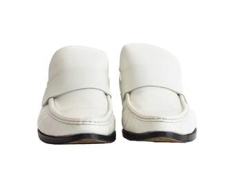 Vintage Loafers, Women's Shoes, Patrick Cox Loafer, 1990s Loafer, Retro Clothing, Women's Vintage Shoes, Rockabilly shoes, White Shoes