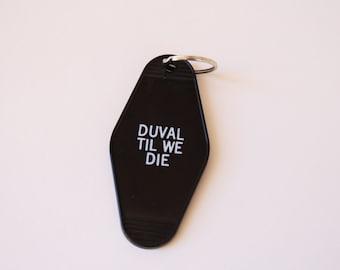 Jacksonville Jaguars key chain Duval Til We Die hotel key tag