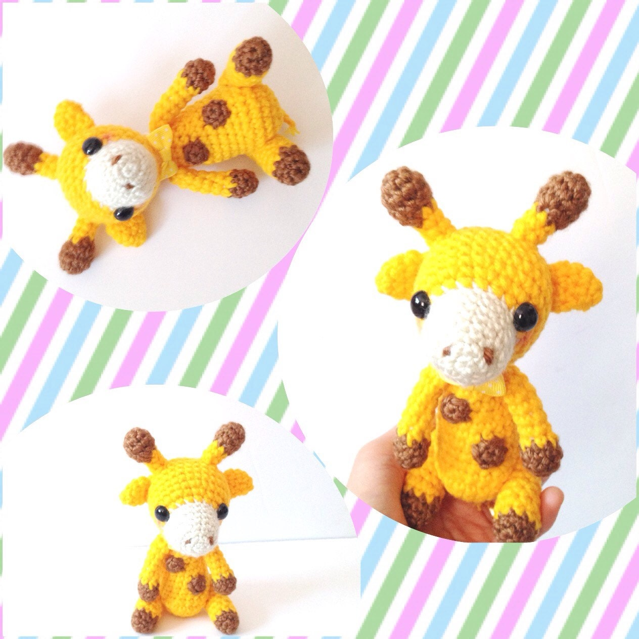 Cuddly Amigurumi Giraffe : Amigurumi Giraffe Crochet Giraffe Stuffed Animal Toy Giraffe