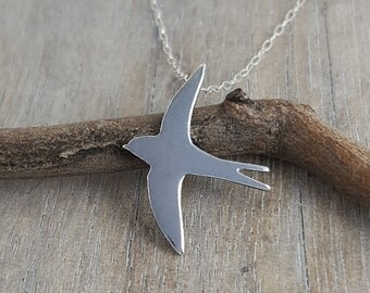 Swallow pendant in sterling silver