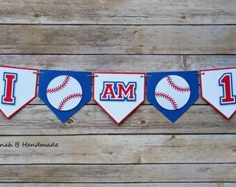 Baseball Highchair Banner, Baseball Photo Banner