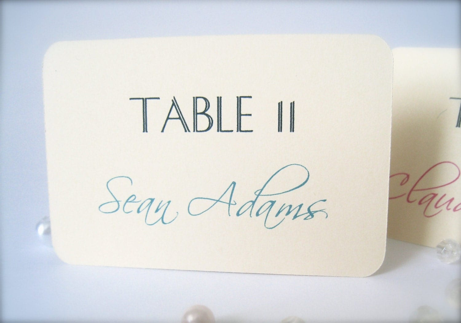 Custom place cards wedding escort cards flat place cards for Personalized wedding place cards