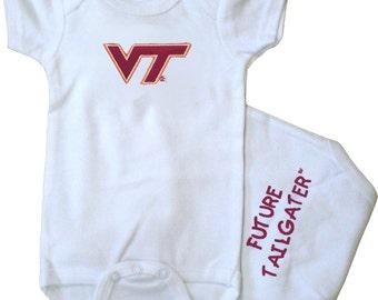 Virginia Tech Hokies Future Tailgater Baby Bodysuit