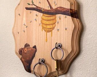 Honey Bees Key Hook
