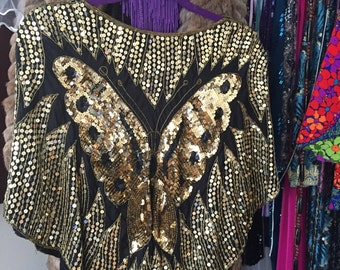 Disco Sequin Butterfly Top