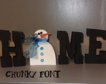 Seasonal Decor, Home letters with interchangeable O- Chunky Font