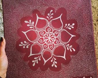 Original Mandala Painting, Reiki Infused Art