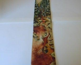 Cool 1940s Fishing Theme Photoprint Tie